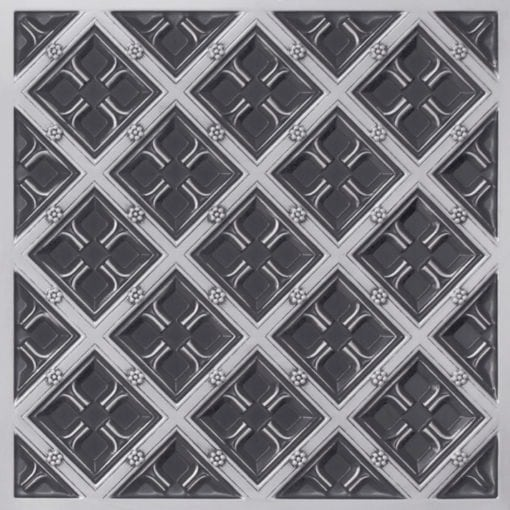 279 Faux Tin Ceiling Tile - Antique Silver