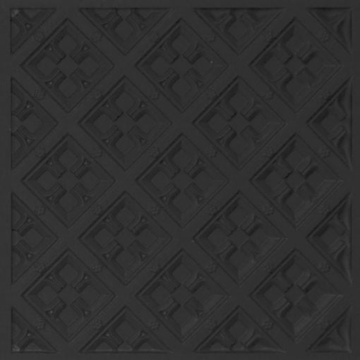 279 Faux Tin Ceiling Tile - Black Matte