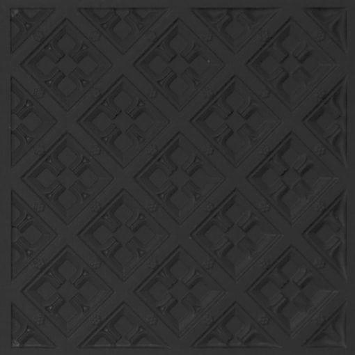 279 Faux Tin Ceiling Tile - Black Matte