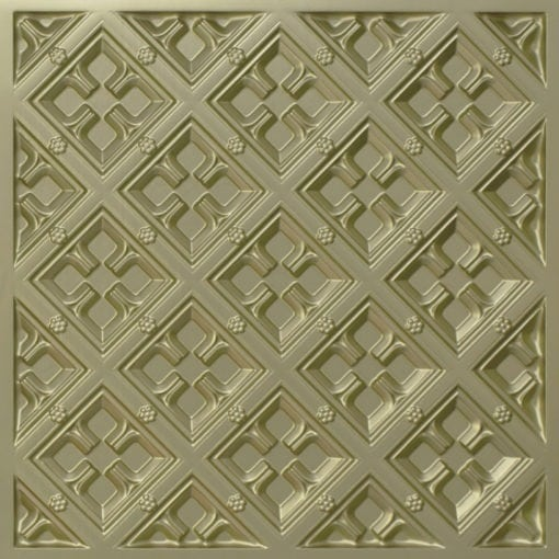 279 Faux Tin Ceiling Tile - Brass