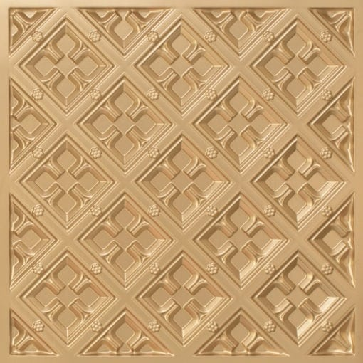 279 Faux Tin Ceiling Tile - Gold
