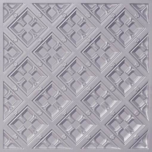 279 Faux Tin Ceiling Tile - Silver