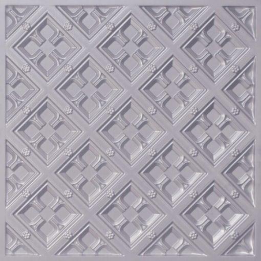 279 Faux Tin Ceiling Tile - Silver