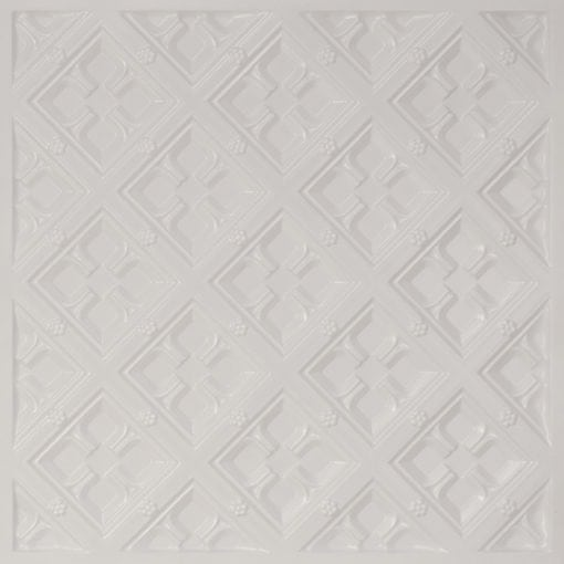 279 Faux Tin Ceiling Tile - White Pearl