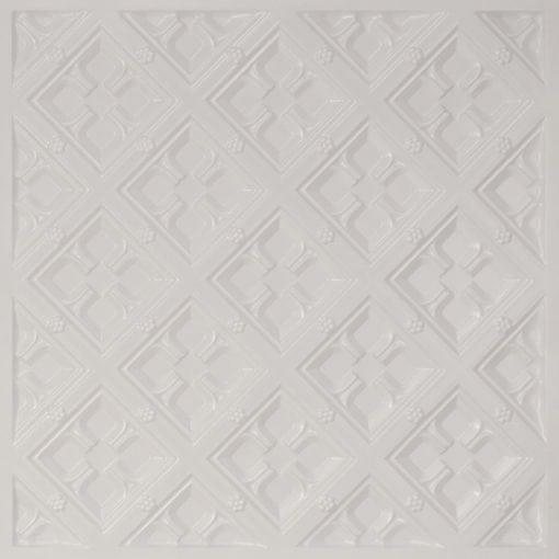 279 Faux Tin Ceiling Tile - White Pearl