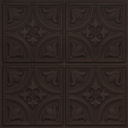 148 Faux Tin Ceiling Tile - Black Matte