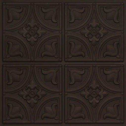 148 Faux Tin Ceiling Tile Black Matte