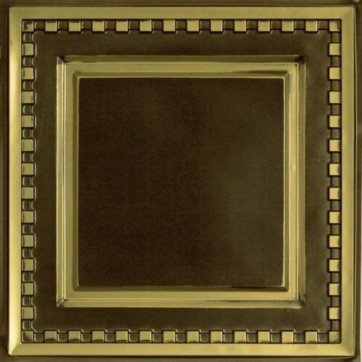 234 Faux Tin Ceiling Tile - Antique Brass