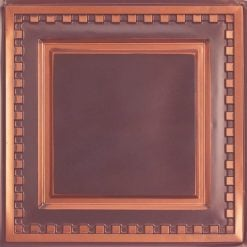 234 Faux Tin Ceiling Tile - Antique Copper