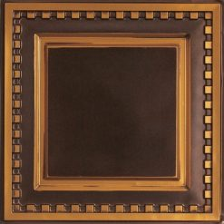234 Faux Tin Ceiling Tile - Antique Gold