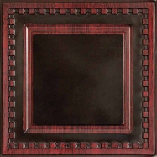 234 Faux Tin Ceiling Tile - Antique Rosewood