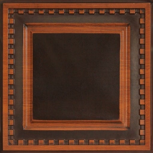 234 Faux Tin Ceiling Tile - Antique Teakwood