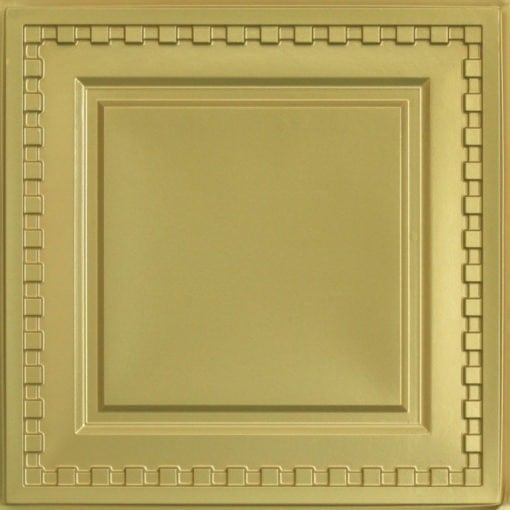 234 Faux Tin Ceiling Tile - Brass