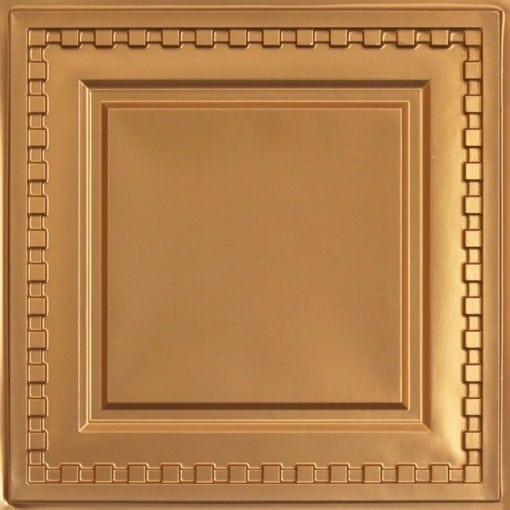 234 Faux Tin Ceiling Tile - Gold