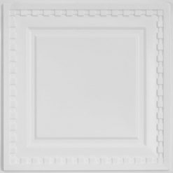 234 Faux Tin Ceiling Tile - White Pearl