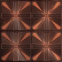 242 Faux Tin Ceiling Tile - Antique Copper