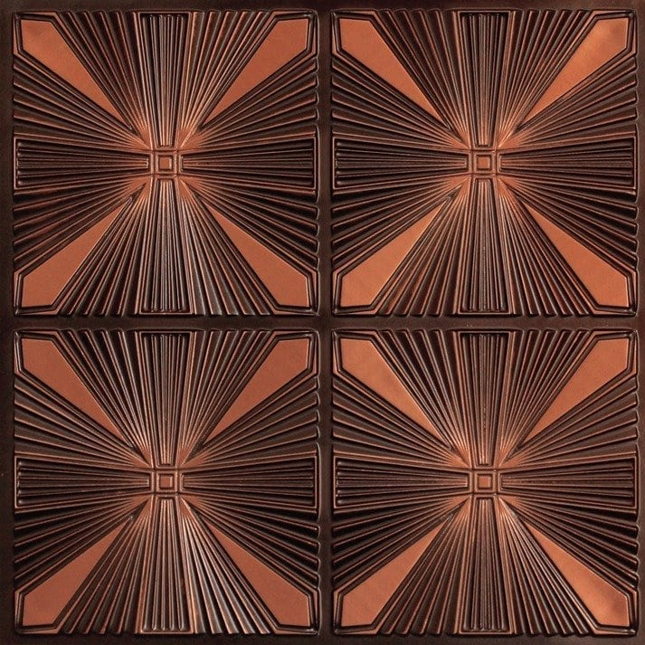 242 Faux Tin Ceiling Tile - Antique Copper