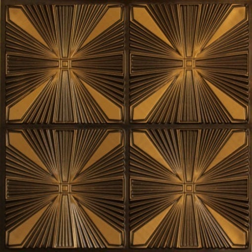 242 Faux Tin Ceiling Tile - Antique Gold