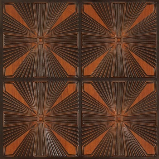 242 Faux Tin Ceiling Tile - Antique Teakwood