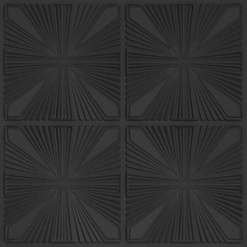 242 Faux Tin Ceiling Tile - Black Matte