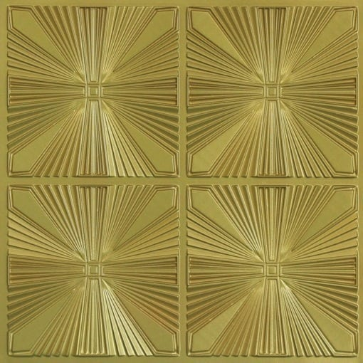 242 Faux Tin Ceiling Tile - Brass