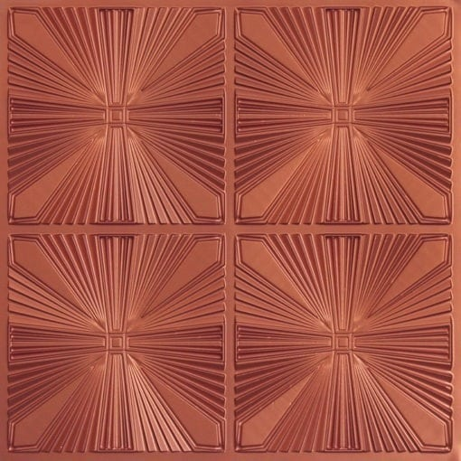 242 Faux Tin Ceiling Tile - Copper