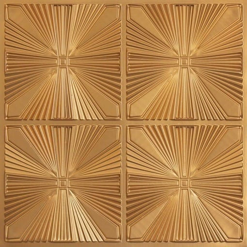 242 Faux Tin Ceiling Tile - Gold