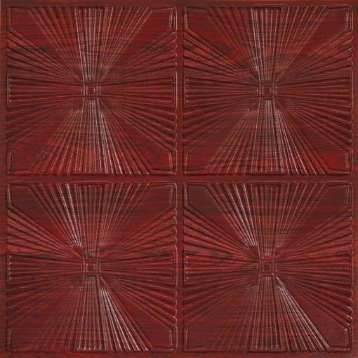 242 Faux Tin Ceiling Tile - Antique Rosewood