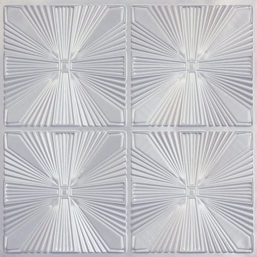 242 Faux Tin Ceiling Tile - Silver