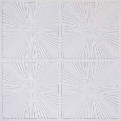 242 Faux Tin Ceiling Tile - White Matte