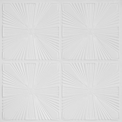 242 Faux Tin Ceiling Tile - White Pearl