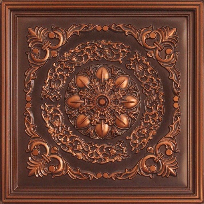 247 Faux Tin Ceiling Tile - Antique Copper