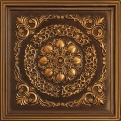247 Faux Tin Ceiling Tile - Antique Gold