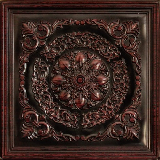247 Faux Tin Ceiling Tile - Antique Rosewood