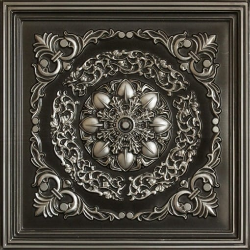 247 Faux Tin Ceiling Tile - Antique Silver