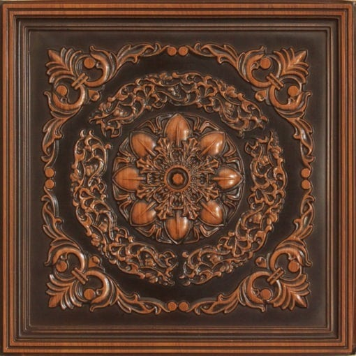 247 Faux Tin Ceiling Tile - Antique Teakwood