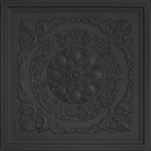 247 Faux Tin Ceiling Tile - Black Matte