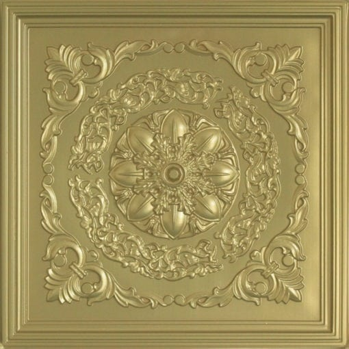 247 Faux Tin Ceiling Tile - Brass