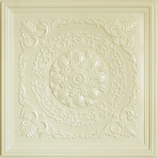 247 Faux Tin Ceiling Tile - Cream Pearl