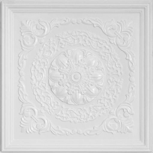 247 Faux Tin Ceiling Tile - White Pearl