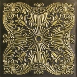 252  Faux Tin Ceiling Tile - Antique Brass