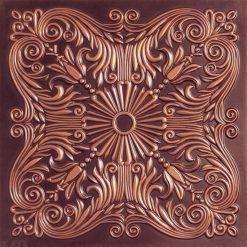 252  Faux Tin Ceiling Tile - Antique Copper