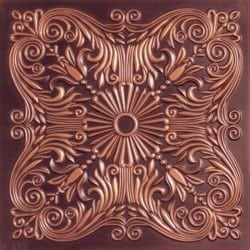 252  Faux Tin Ceiling Tile - Antique Copper