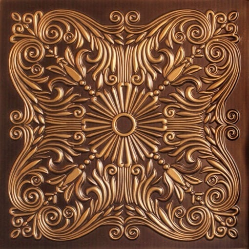 252  Faux Tin Ceiling Tile - Antique Gold