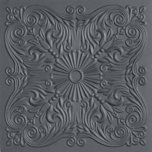 252  Faux Tin Ceiling Tile - Black Matte