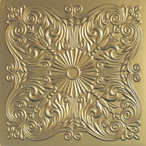 252  Faux Tin Ceiling Tile - Brass