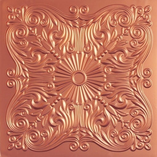 252  Faux Tin Ceiling Tile - Copper