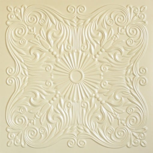 252  Faux Tin Ceiling Tile - Cream Pearl
