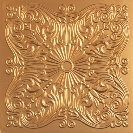 252  Faux Tin Ceiling Tile - Gold