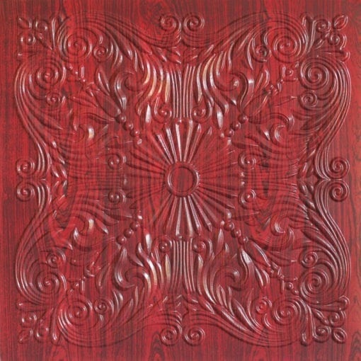 252  Faux Tin Ceiling Tile - Rosewood